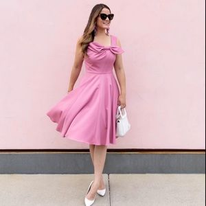 Gal Meets Glam Zoe Bow Front Pink Dress NEW Size 2